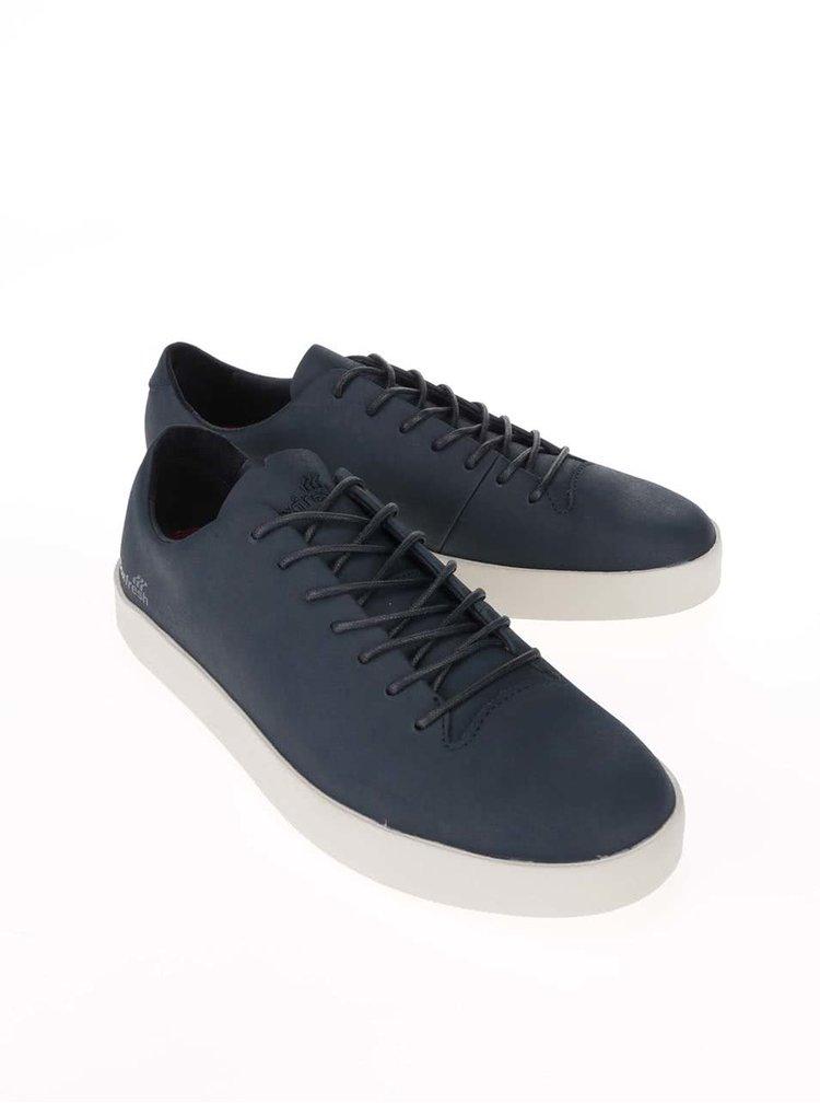 Tmavomodré kožené topánky Boxfresh Bxfh