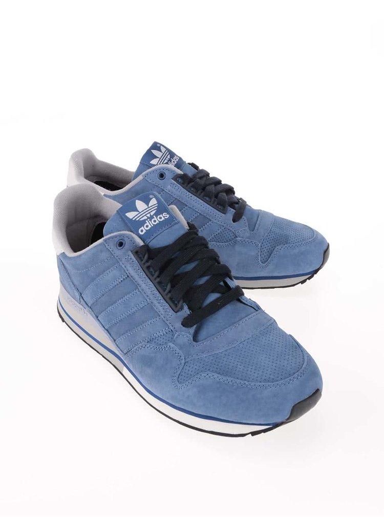 Modré pánské kožené tenisky adidas Originals ZX 500 OG