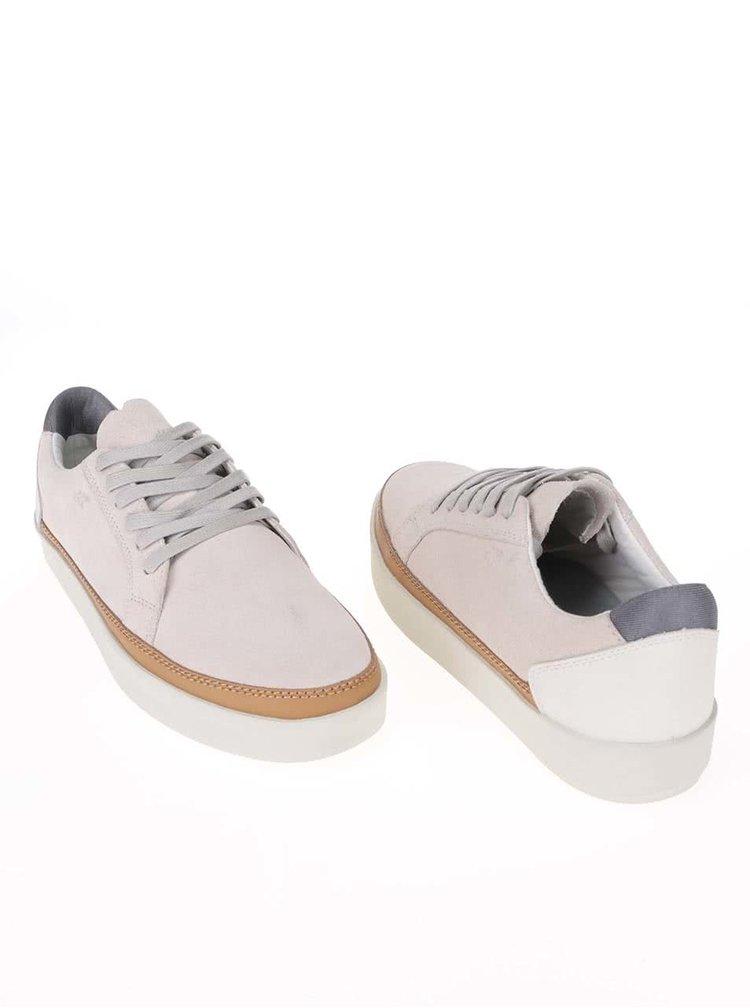Pantofi sport din piele Boxfresh Civik crem