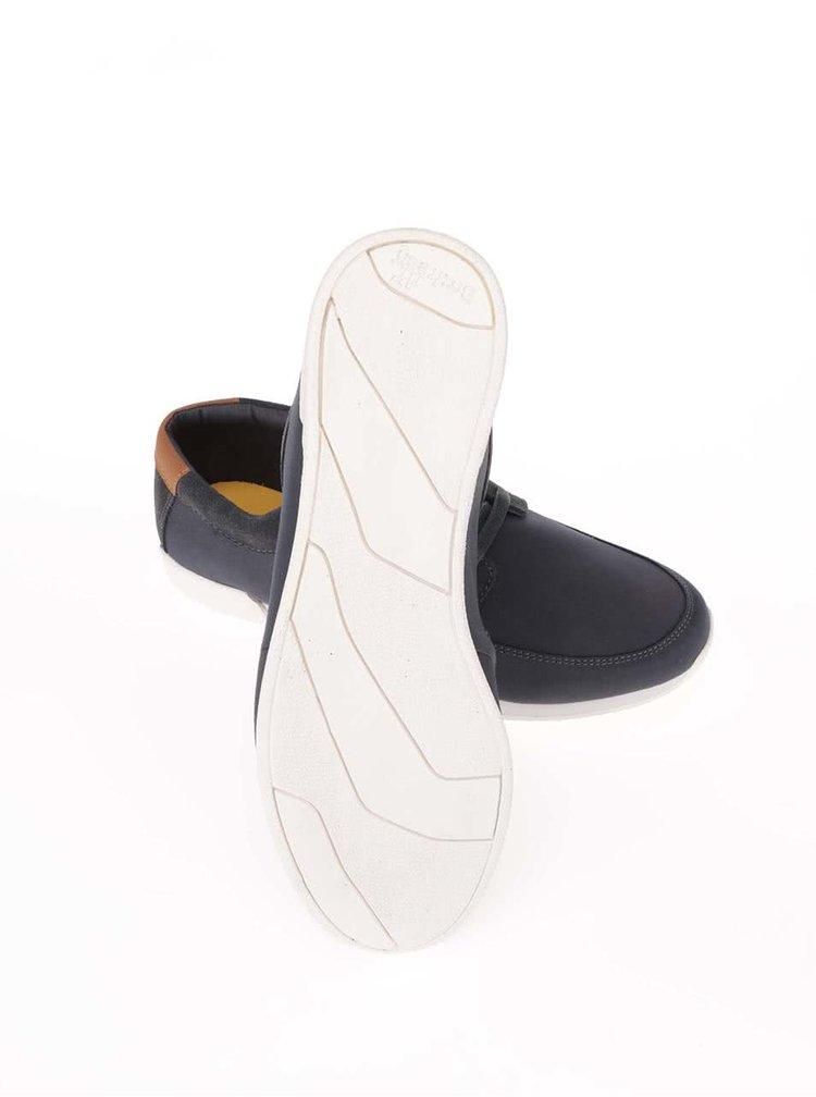 Pantofi sport cu detalii din piele Boxfresh Cowl gri