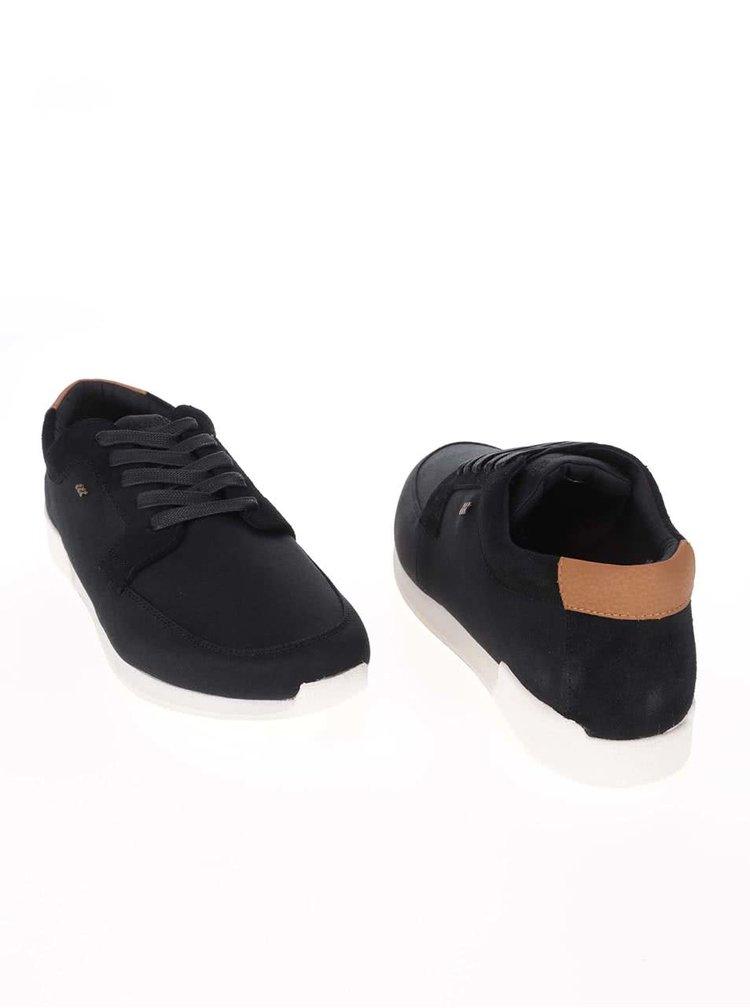 Pantofi sport cu detalii din piele Boxfresh Cowl negri