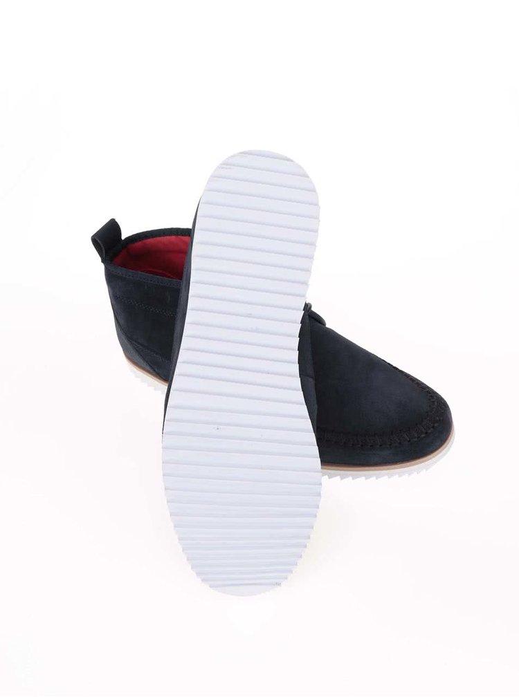 Modré kožené členkové topánky Boxfresh Clyston