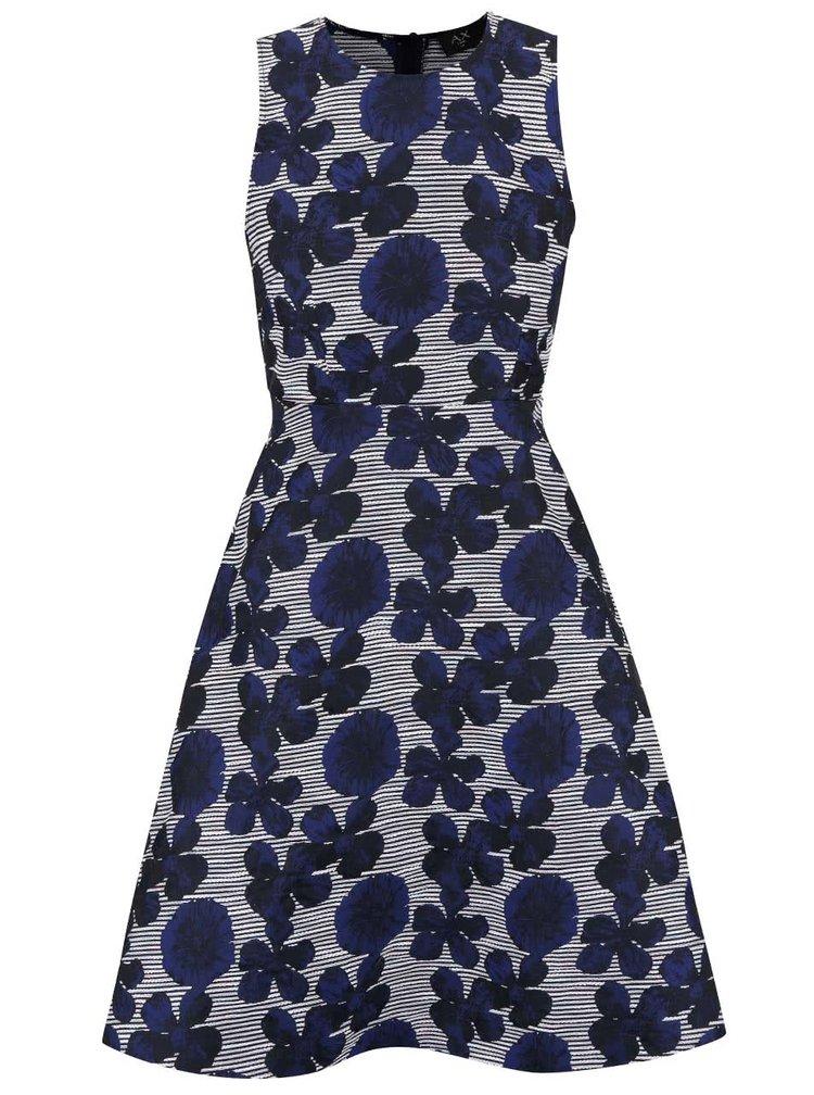Modré šaty s kvetovaným vzorom AX Paris