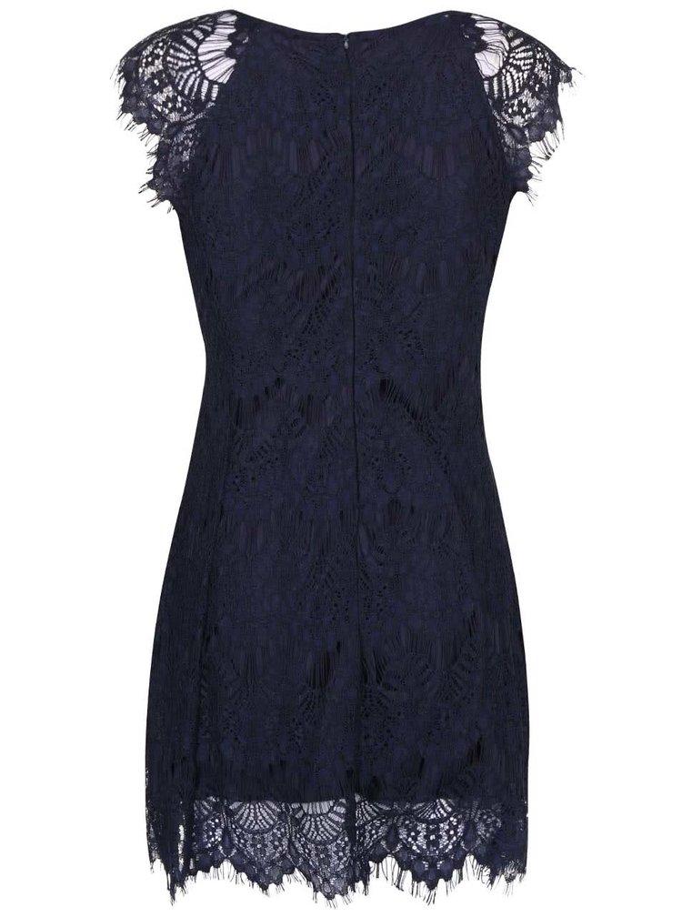 Rochie albastru inchis AX Paris cu dantela