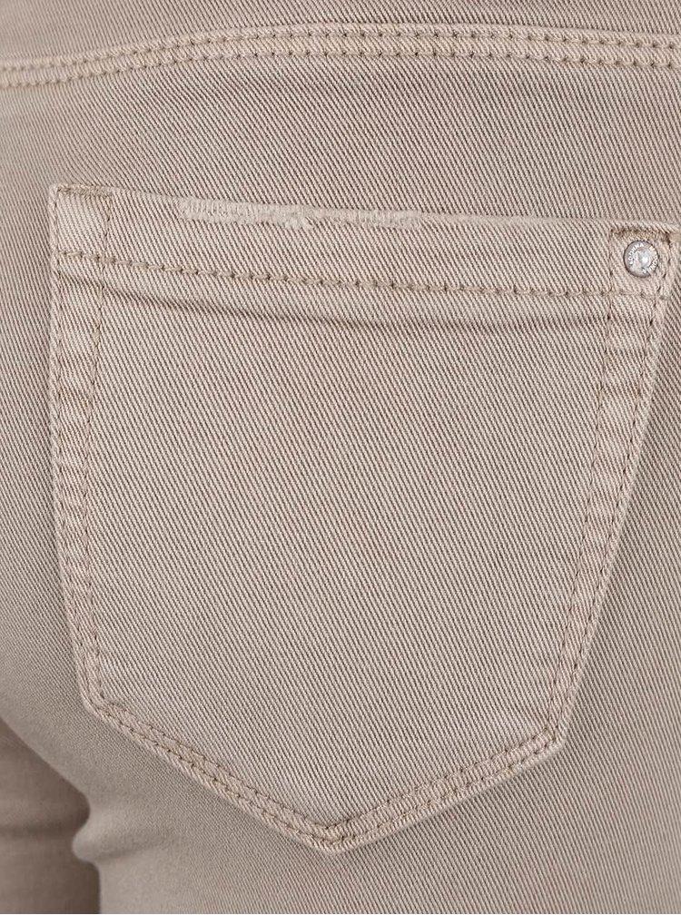 Béžové džíny s potrhaným efektem Madonna