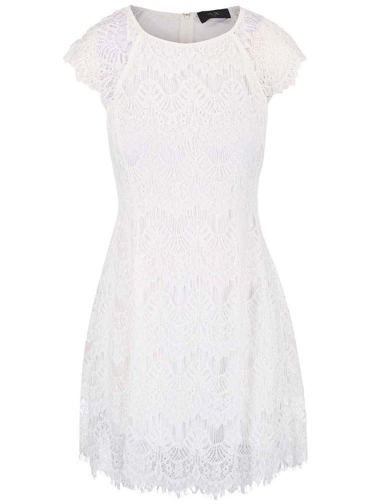 Krémové krajkové šaty AX Paris