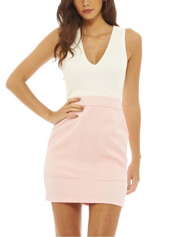 Rochie AX Paris roz/crem mini
