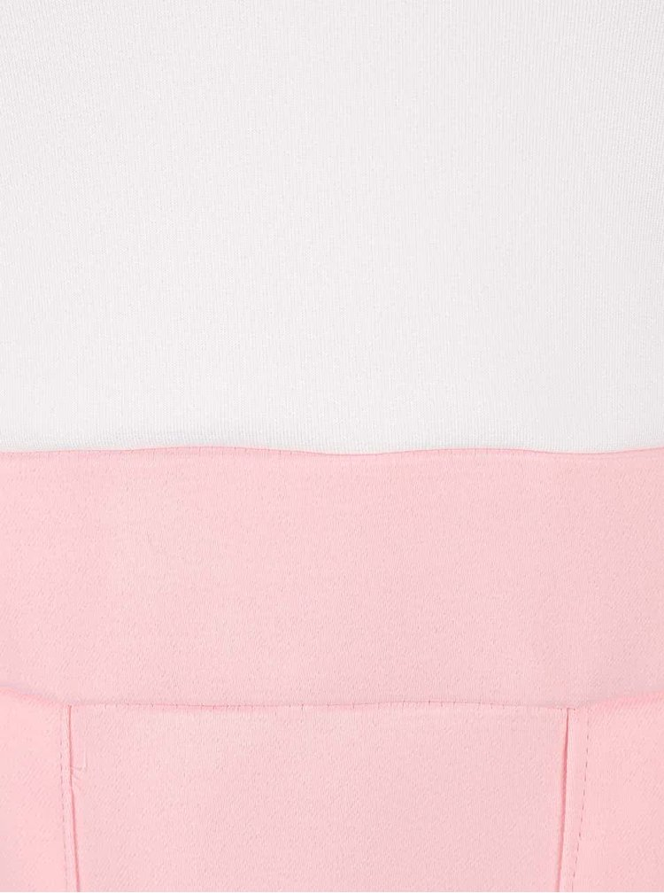Krémovo-ružové minišaty s véčkovým výstrihom AX Paris