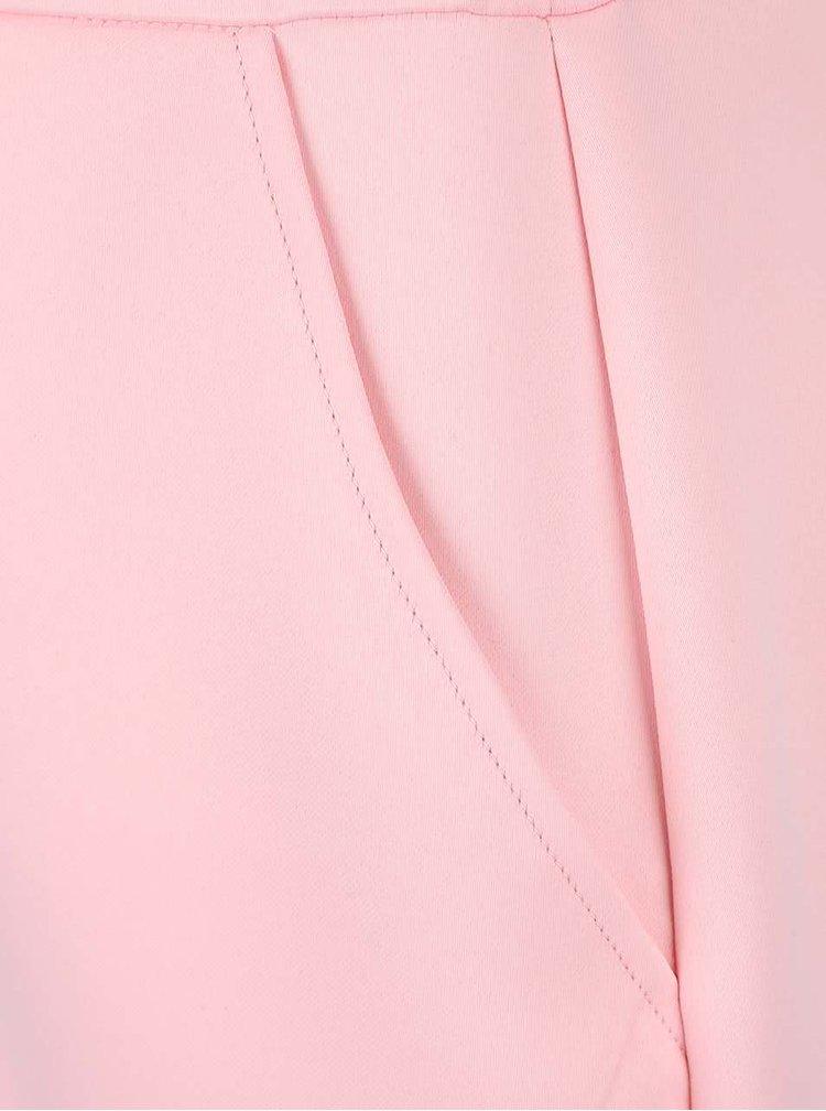 Krémovo-růžové minišaty s véčkovým výstřihem AX Paris