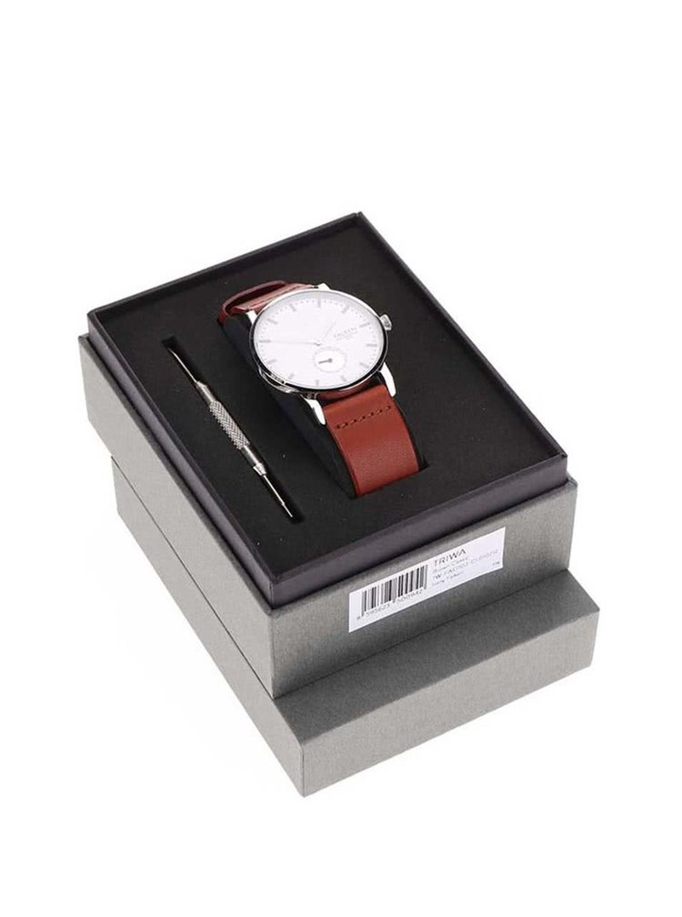 Hnedé unisex kožené hodinky TRIWA Ivory Falken