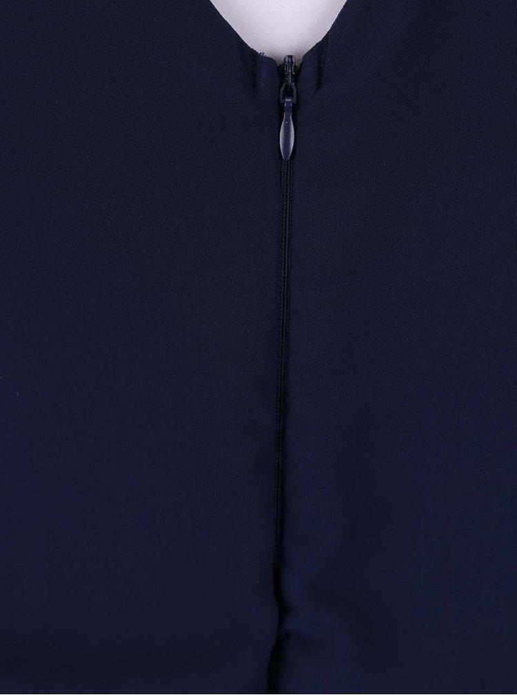 Tmavě modré šaty s pruhovanou sukní AX Paris