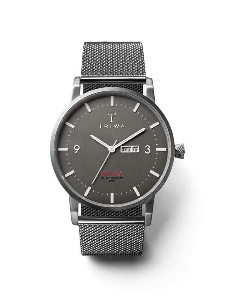 Unisex hodinky v striebornej farbe s nerezovým remienkom TRIWA Dust Klinga