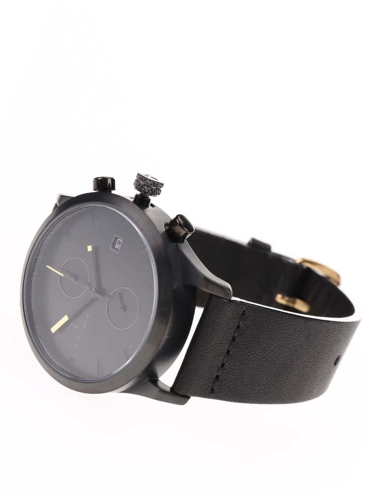 Černé pánské hodinky TRIWA Sort of Black