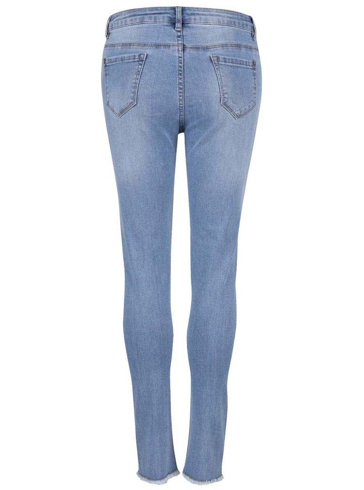 Modré džíny s potrhaným efektem Madonna