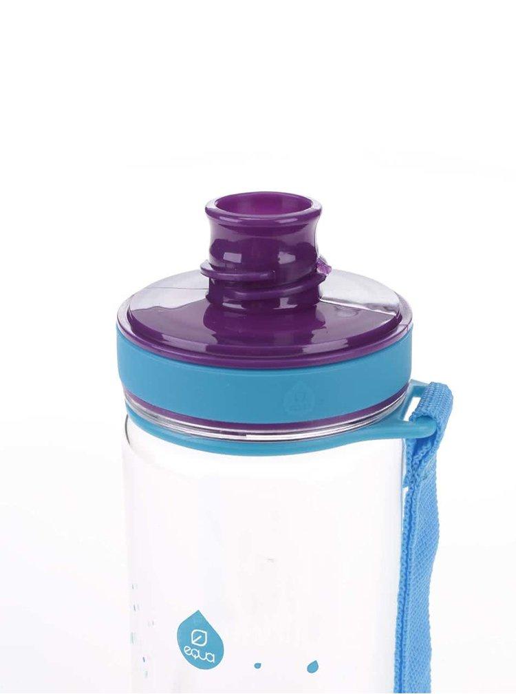 Plastová fľaša s motívom fialových listov EQUA (400 ml)