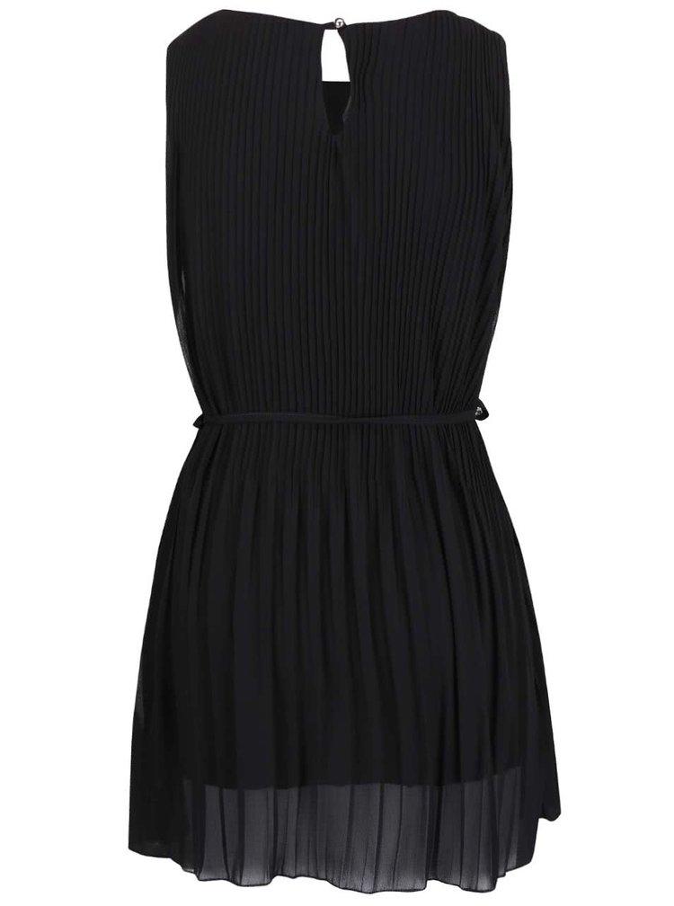 Černé plisované šaty Madonna