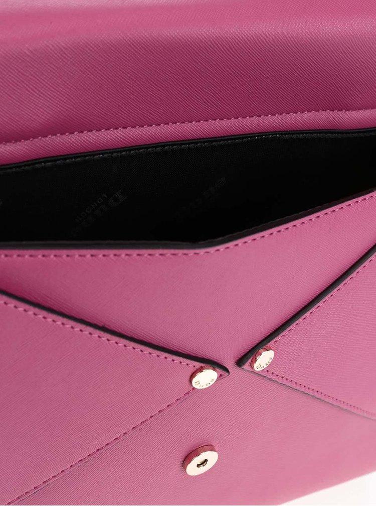 Geantă  Dune London Delaney roz cu detalii aurii