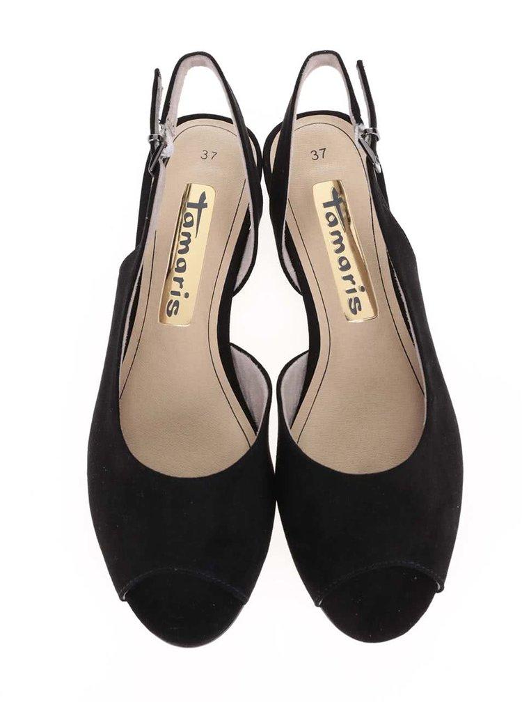 Čierne sandálky Tamaris