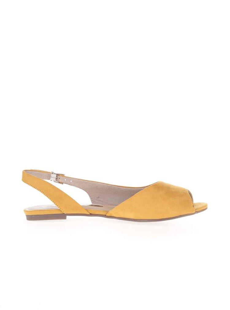 Hořčicově žluté sandálky Tamaris