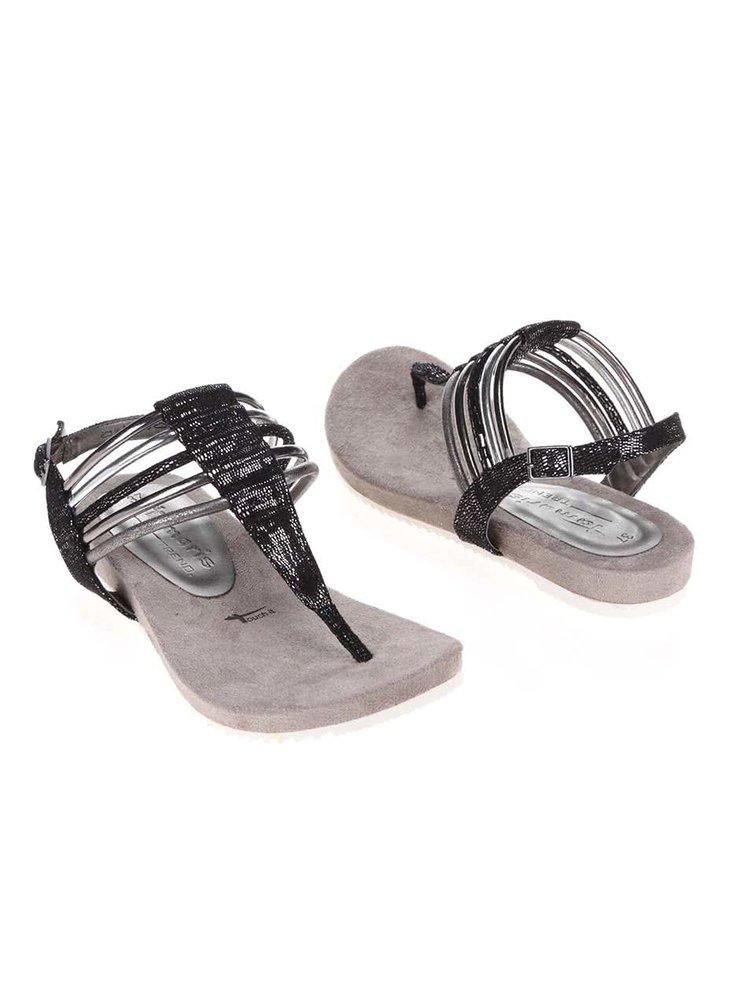 Sandale Tamaris gri/negre