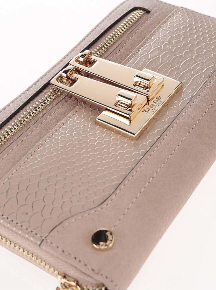 Telová peňaženka s detailmi v zlatej farbe Dune London Katee
