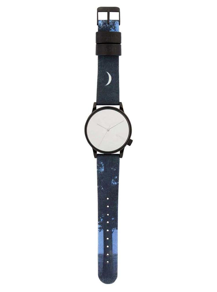 Černo-modré unisex hodinky s textilním páskem Komono Winston by René Magritte