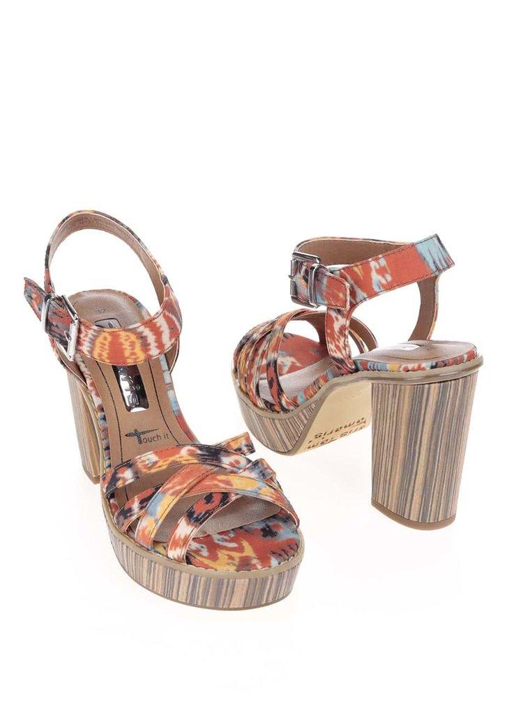 Sandale Tamaris colorate cu toc