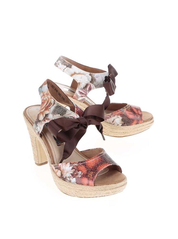 Barevné květované boty s mašlí Tamaris