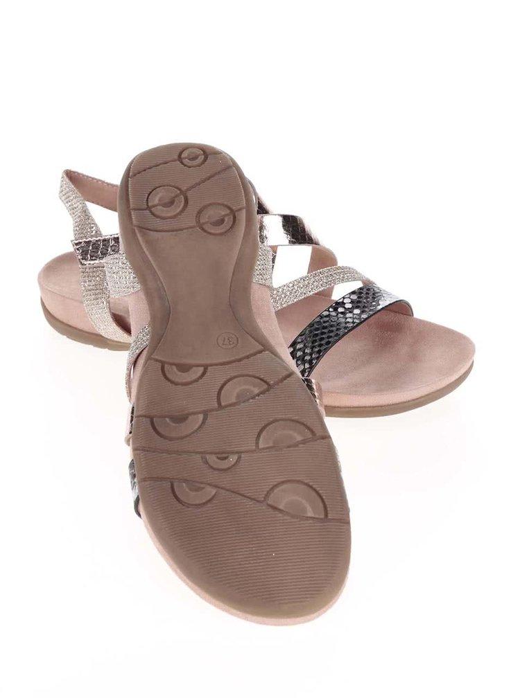 Sandale Tamaris roz/aurii