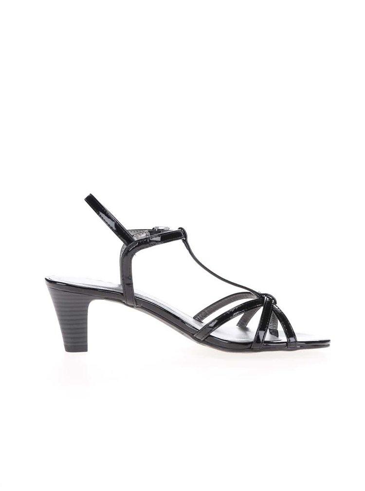 Sandale Tamaris negre cu toc