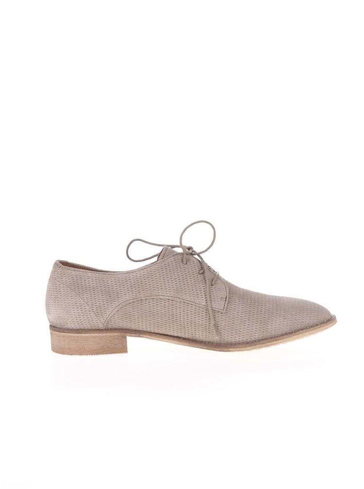 Pantofi Dune London Faris bej de damă din piele