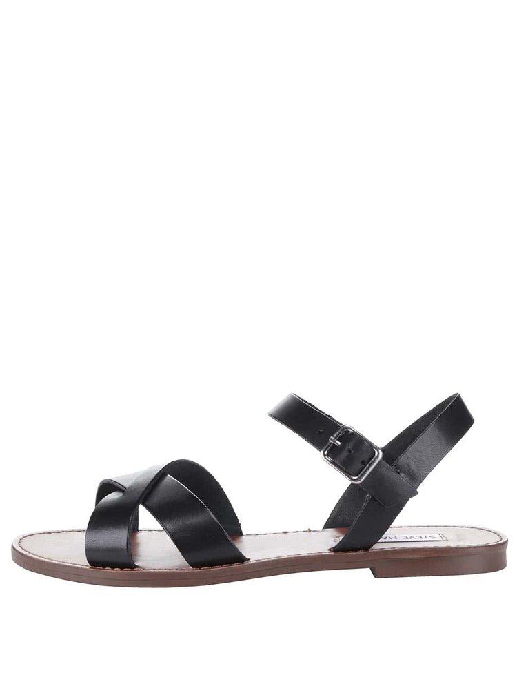 Čierne dámske kožené sandále Steve Madden Dublin