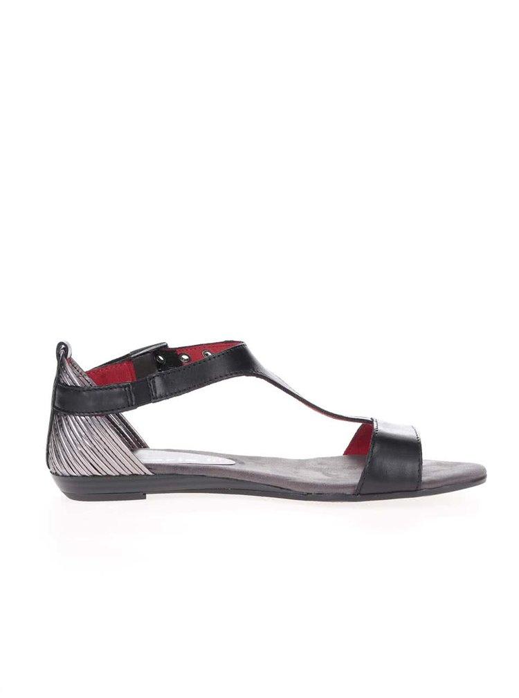 Černé páskové sandálky Tamaris