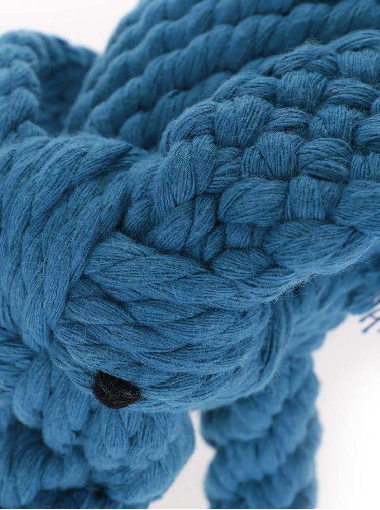 Modrá hračka pre psa v tvare slona Kikkerland