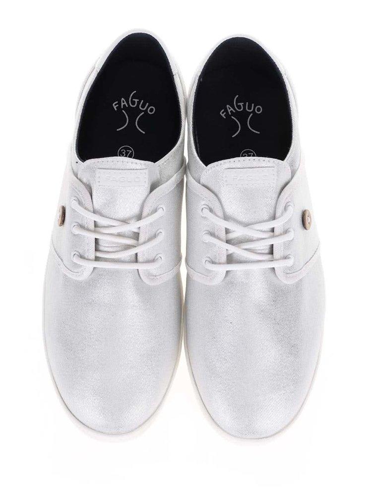 Dámské plátěné tenisky ve stříbrné barvě Faguo Cypress