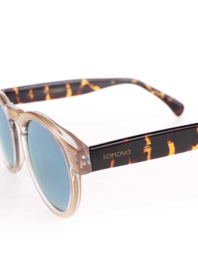 Světle růžové dámské sluneční brýle Komono Clement