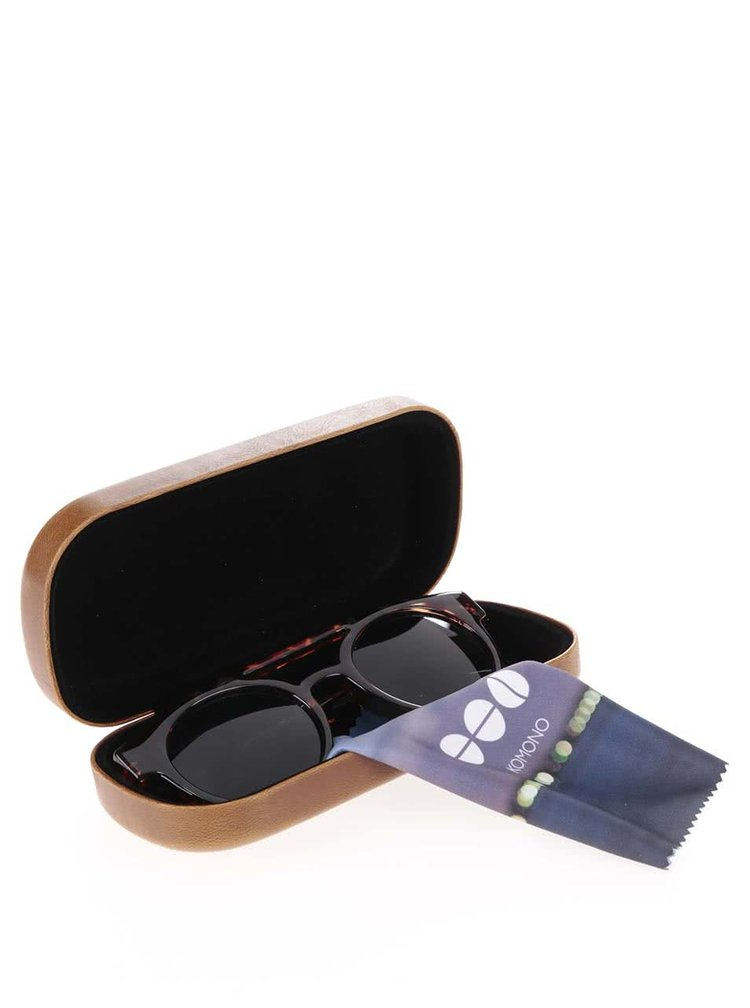 Hnedé korytnačinové unisex slnečné okuliare Komono Dreyfuss