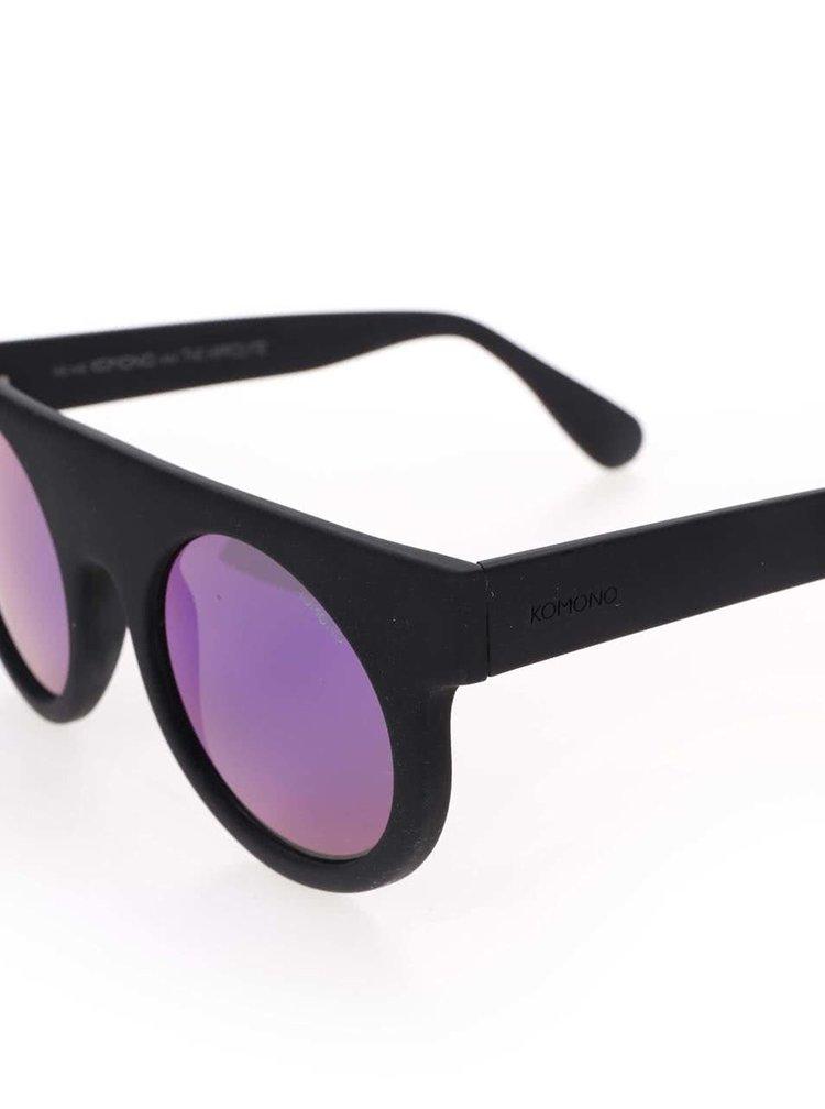 Čierne unisex slnečné okuliare Komono Hippolyte