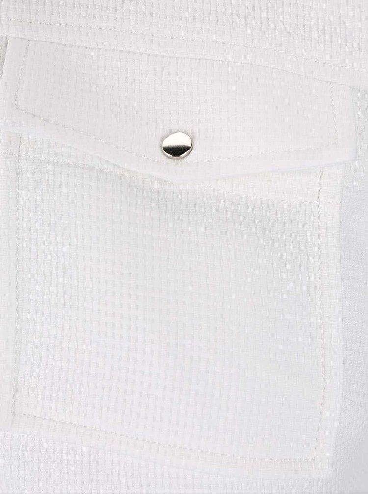 Biele šaty na zips Dorothy Perkins