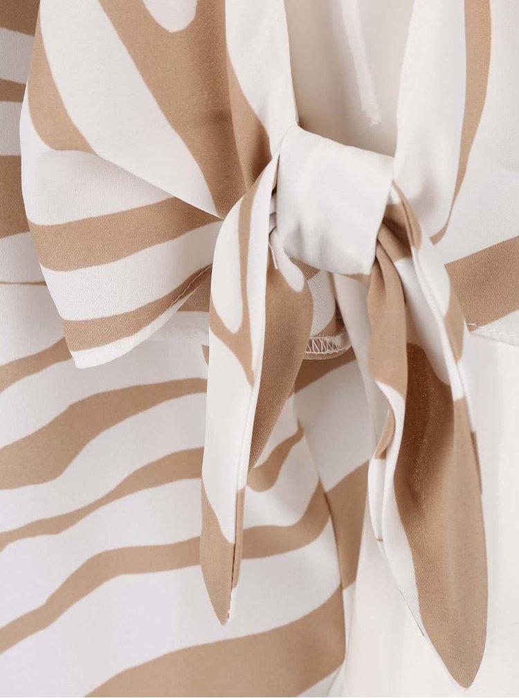 Krémovo-béžová blúzka s prestrihmi na rukávoch Dorothy Perkins