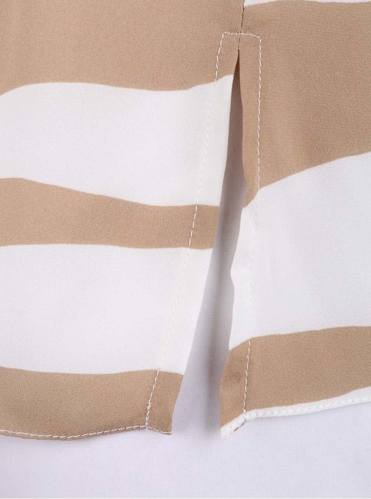 Bluză Dorothy Perkins cu imprimeu crem-bej