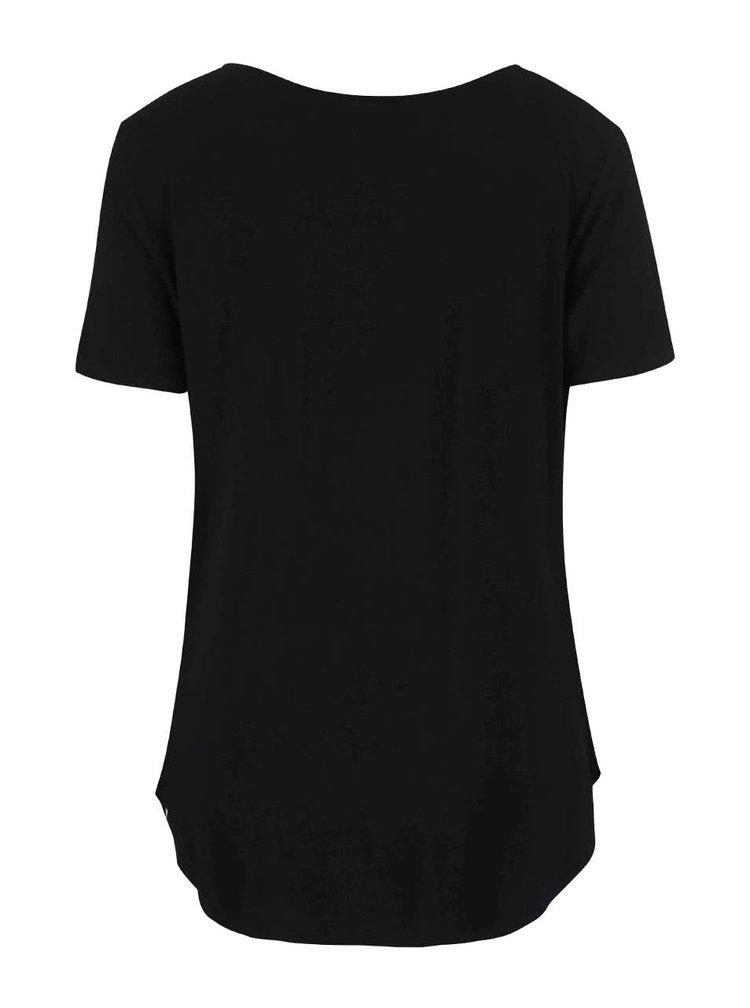 Čierne tričko s potlačou Dorothy Perkins