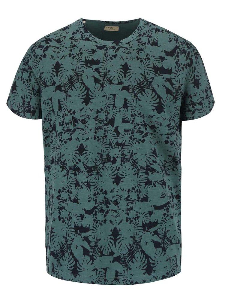 Zelené triko se vzorem Selected Homme Sunset