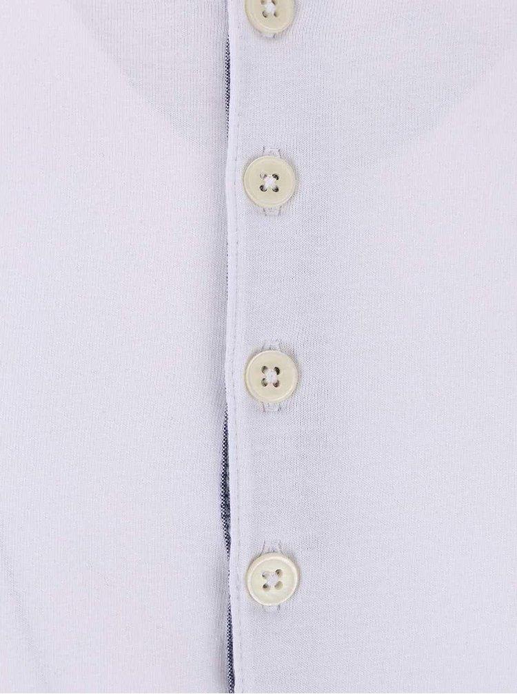 Bílé tričko s knoflíky Selected Homme Niklas