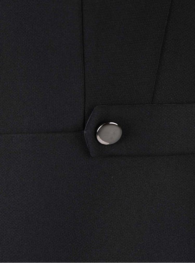 Černé šaty se srdíčkovým výstřihem Dorothy Perkins