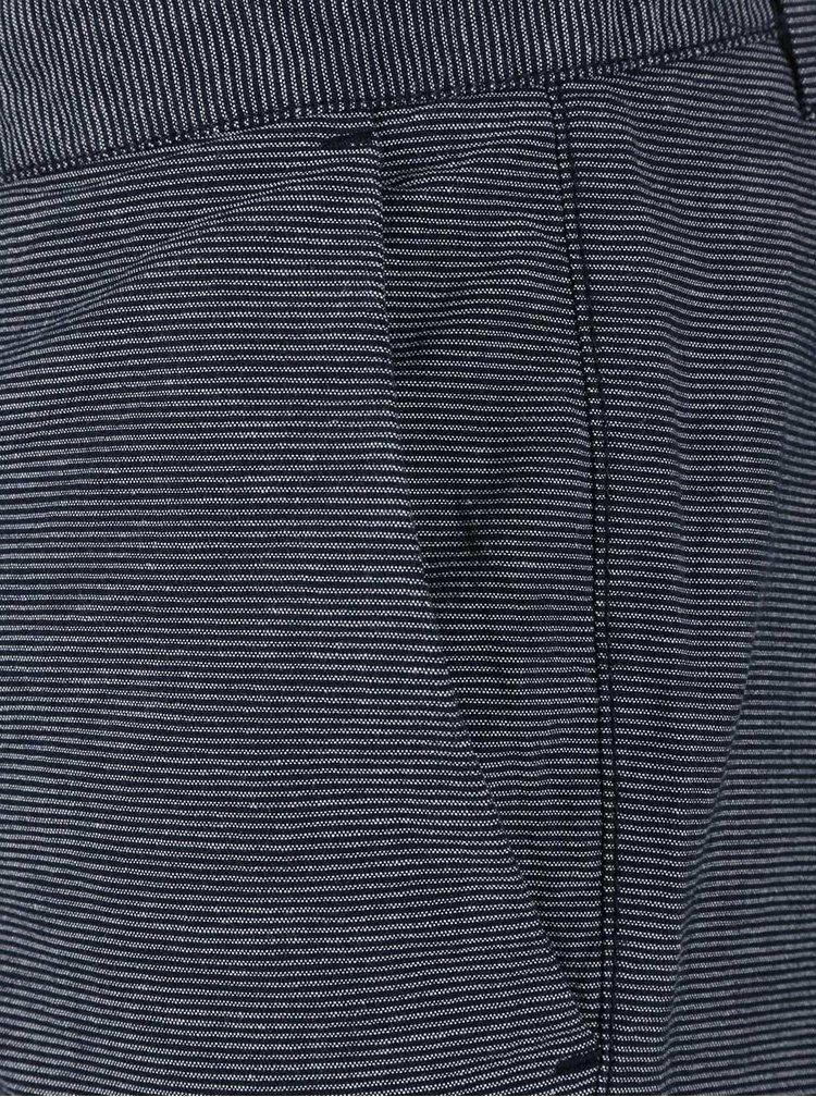 Tmavě modré pruhované kraťasy Selected Homme Holst