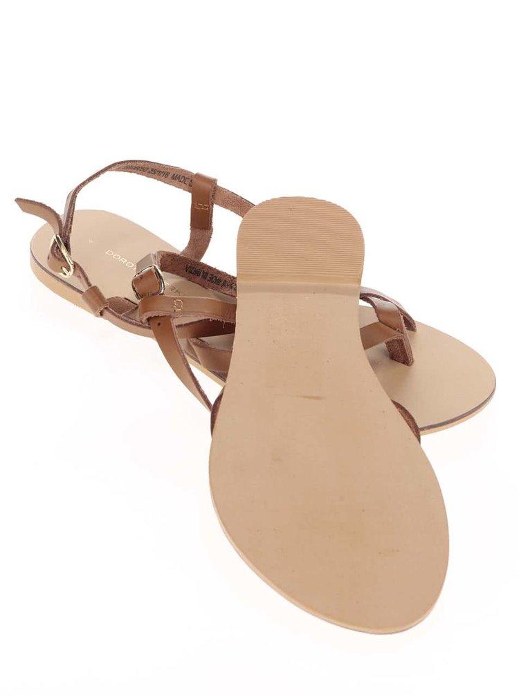 Sandale din piele Dorothy Perkins maro