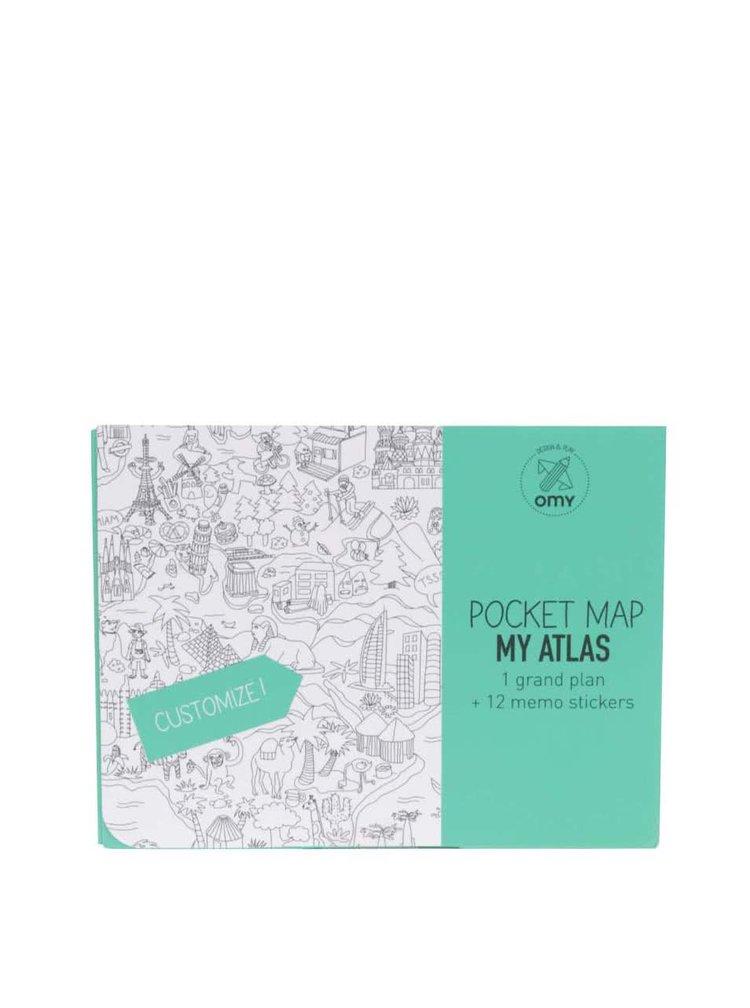 Kapesní omalovánky Atlas Světa OMY