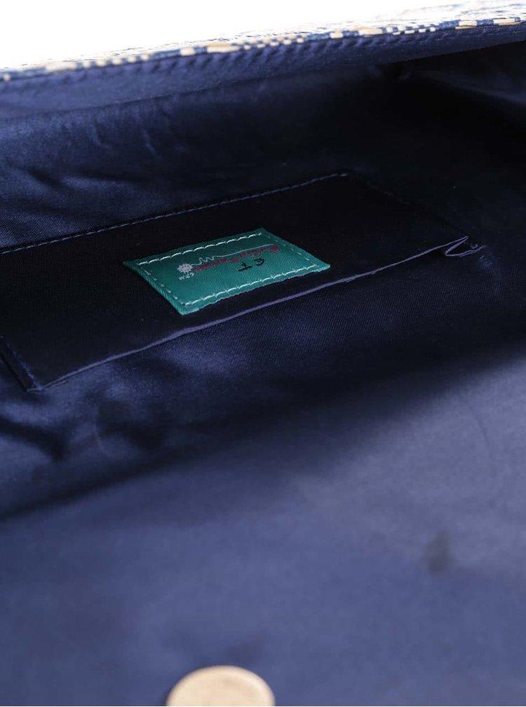 Geanta plic OJJU albastra cu model bej