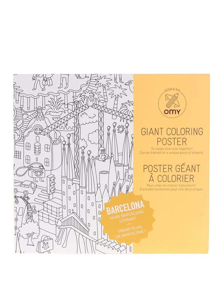Poster de colorat Barcelona OMY